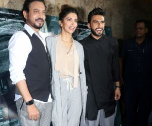 Irrfan Khan, Deepika Padukone & Ranveer Singh  @ Madaari  movie Promotion Stills