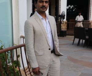 Nawazuddin Siddiqui For Promotional Interview of Film Motichoor Chaknachoor At Sun n sand hotel