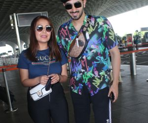 Neha Kakkar and Rohanpreet Singh Spotted At Airport Departure