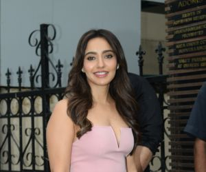 Neha Sharma @ Yuvraj Singh's retirement party at Estella juhu