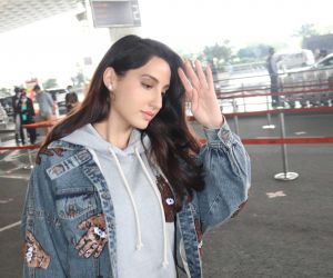 Nora Fatehi Spotted At Airport Departure-Photo