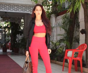 Nora Fatehi spotted at bandra