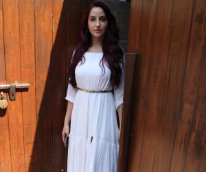 Nora fatehi spotted at Indigo Restaurant