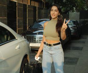 Nora Fatehi Spotted At Pooja Films Juhu