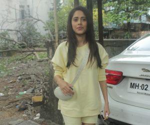 Nushrat Bharucha Spotted At Salon Bandra