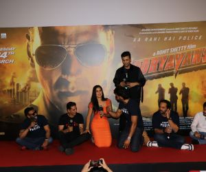 Photo from the trailer launch of film Sooryavanshi team cast