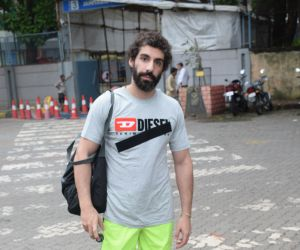 Jim Sarbh Playing football at juhu