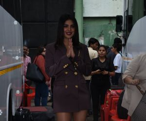Priyanka Chopra for the promotions of film Sky is Pink at filmcity