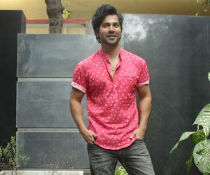 Varun Dhawan @ Promotion of film coolie no 1 at pooja films office in juhu