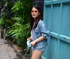 Radhika Madan spotted at Maddock films office in santacruz