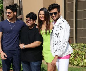 Rakul Preet Singh, Sidharth Malhotra, Riteish Deshmukh and  Milap Zaveri Promotion Of their Movie Marjaavaanat Marriott juhu