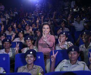 Actress Rani Mukherji hosts the screening of her film Mardani 2 for female police of mumbai