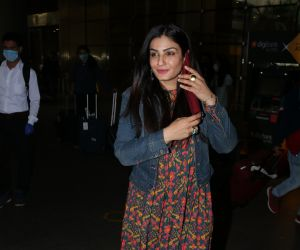 Raveena Tandon Spotted At Airport Arrival