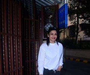Raveena Tandon Spotted At Dubbing Studio In Bandra