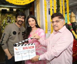 "Ravi Teja, Shruti Haasan, Gopichand Malineni Their  New Telugu Movie ""Krack""."