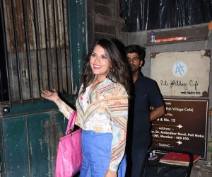 Richa Chadha spotted at palli village cafe in bandra