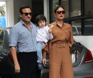 Saif Ali Khan and Kareena Kapoor inChristmas Family lunch of kapoor family at shashi Kapoor house