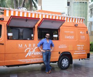 Saif Ali Khan at the launch of Marriott on Wheels