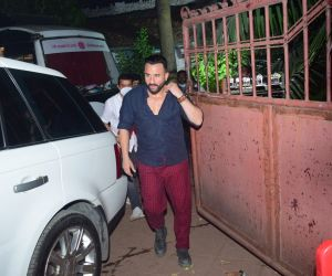 Saif Ali Khan Spotted After Shoot In Bandra
