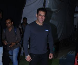Actor Salman Khan during success meet of film Dabangg3 at Mehboob Studio in bandra.