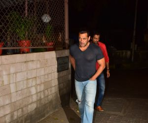 Salman Khan spotted at dubbing studio in bandra