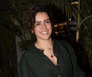 Sanya Malhotra spotted at kitchen garden juhu