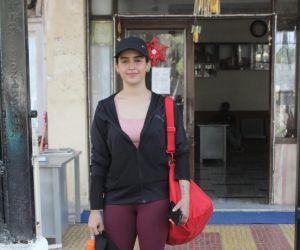 Sanya Malhotra Spotted Gym