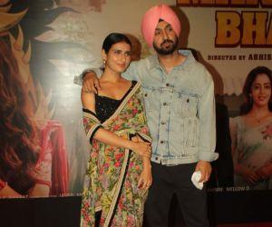 Fatima Sana Shaikh and Diljit Dosanjh join Screening Of Film Suraj Pe Mangal Bhari At Andheri