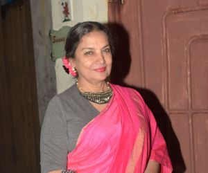 Shabana Azmi join Screening of film Saand Ki Aankh at sunny sound juhu
