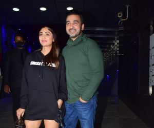 Shilpa Shetty and Raj Kundra spotted at Hakkasan Bandra