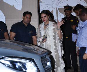 Shraddha Kapoor and Huma Qureshi at Amitabh Bachchan's Diwali party