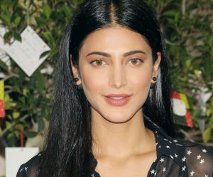Shruti Haasan visits RPG Foundation an ngo working towards the women's welfare at worli