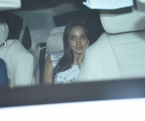 Actress  Kiara Advani seen at Karan Johar's house in bandra