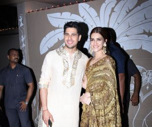 Sidharth Malhotra and Kriti Sanon at actor Amitabh Bachchan's Diwali party