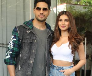 Sidharth Malhotra and Tara Sutaria promotion photo of their upcoming Film Marjaavaan