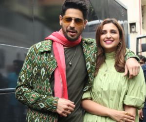 Sidharth Malhotra & Parineeti Chopra At The Song Launch UP Hile Zilla Hile From Film Jabariya Jodi