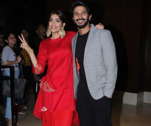Sonam Kapoor with Salman Dulquar spotted Promoting their film Zoya's Factor