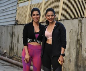Sophie Chowdhary and Rakul Preet Singh spotted at gym in bandra