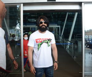 South star Yash spotted at airport