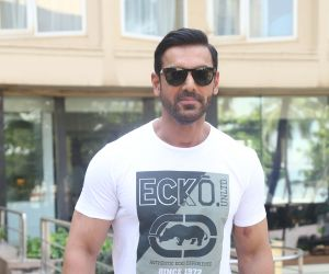 Actor John Abraham During The Promotion of Pagalpanti at Novotel juhu.
