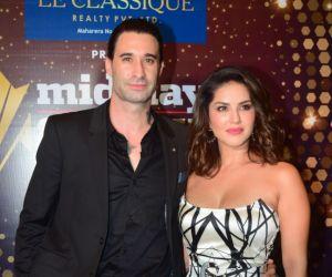 Sunny Leon and Husband Daniel Weber @ Midday showbiz icon awards