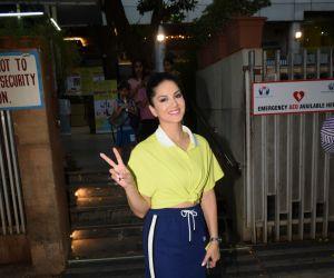 Sunny Leone spotted at Juhu gymkhana