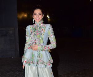 Taapsee Pannu at the special screening of film Thappad