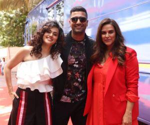 Tapaasee Pannu, Vicky Kaushal, Neha Dupiya, at Filmalaya
