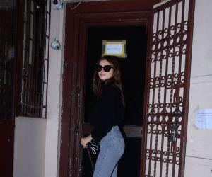 Tara Sutaria Spotted At Dubbing Studio Bandra