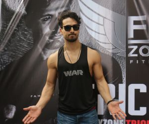 Tiger Shroff at a fitness event in juhu