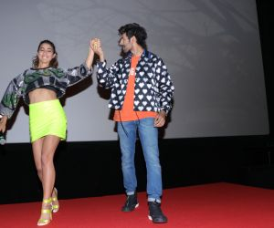 Kartik Aryan and Sara Ali Khan at Trailer Launch Of Film Love Aaj Kal 2.