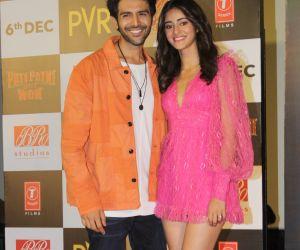 Trailer Launch Of Pati Patni Aur Woh With Ananya Panday and Kartik Aaryan
