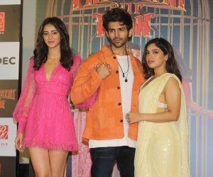 Trailer Launch Of Pati Patni Aur Woh With Ananya, Bhumi And Kartik