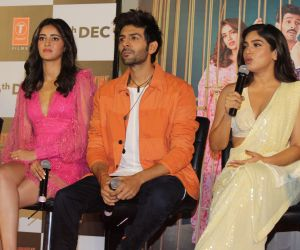 Trailer Launch Of Pati Patni Aur Woh With Ananya, Bhumi And Kartik